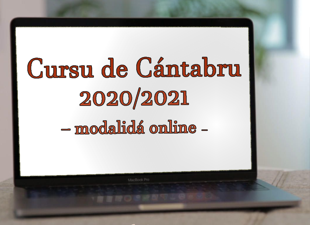 cartel cursu cántabru 2020-2021. Modalidad online. Apúntante a través del email alcuentrucantabria@gmail.com